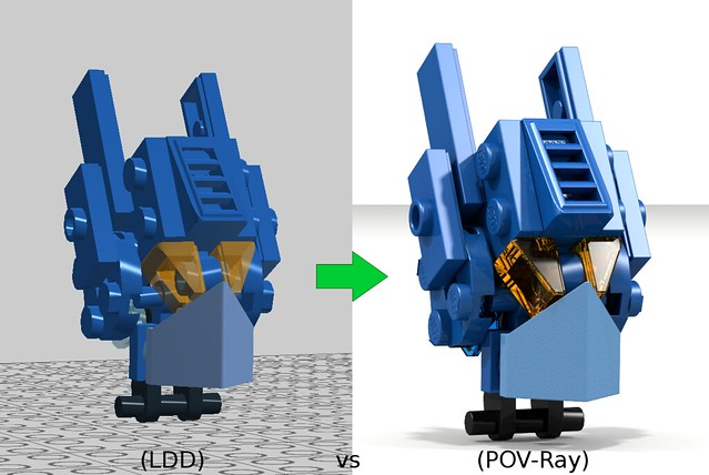 LDD vs POV-Ray