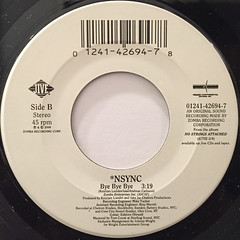 *NSYNC:BYE BYE BYE(LABEL SIDE-B)