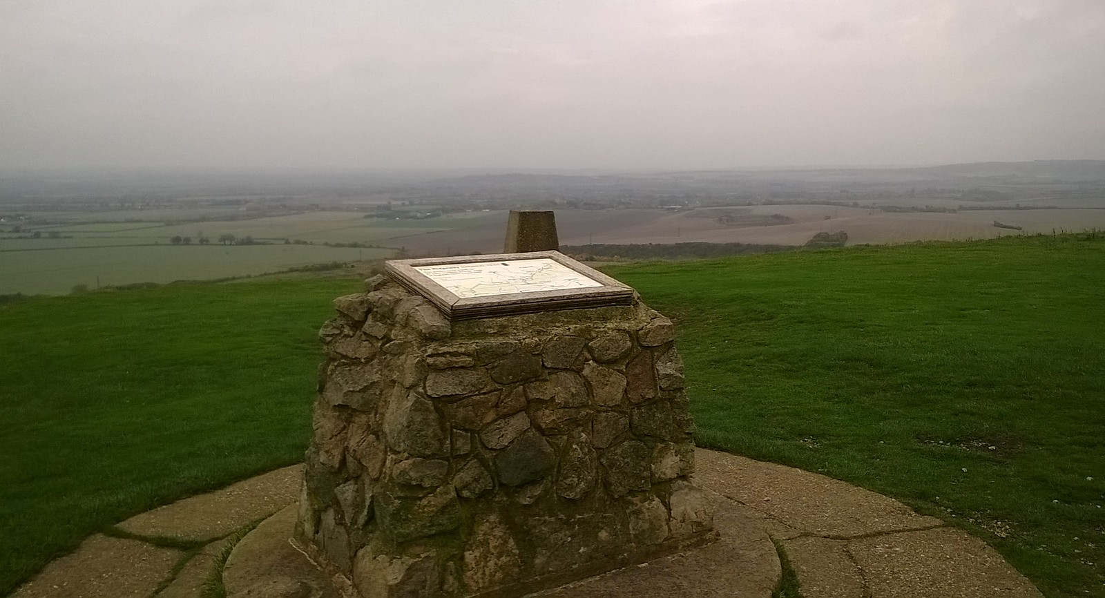 Ivinghoe Beacon on a wet and slightly misty October morn