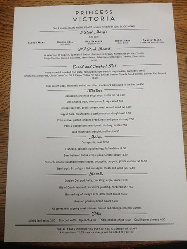 IMG_4193_Sunday lunch menu at Princess Victoria