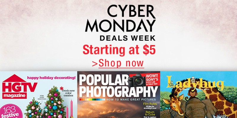 Cyber Monday Deals Week: Get your favorite Kindle magazines starting at $5