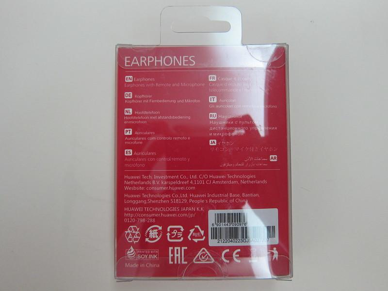 Huawei Free In-ear Earphones - Packaging Back