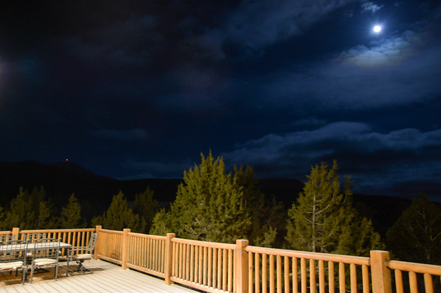 night sky from the deck
