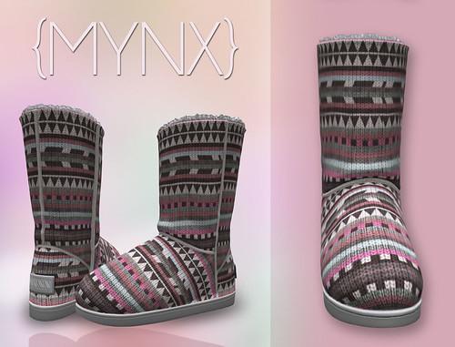 {MYNX} Bootie - Tribal Pink