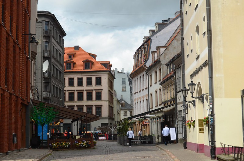 The streets of Riga