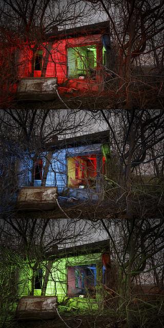 Abandoned Home Triptych II