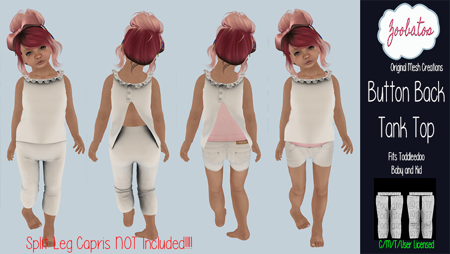 Button Back Tank Top - SecondLifeHub.com