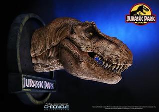 Chronicle Collectibles 侏羅紀公園【霸王龍】Jurassic Park T-Rex 1/5 比例頭像作品