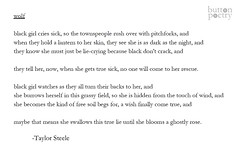 "buttonpoetry: ""She becomes the kind of free soil begs for, a wish finally come true."" Our next chapbook contest finalist is Taylor Steele for the manuscript VILLAINS AIN'T BORN. Check out this poem from their book!"