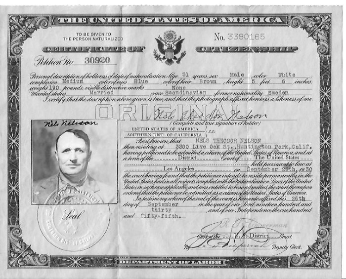 US Citizenship Cert.