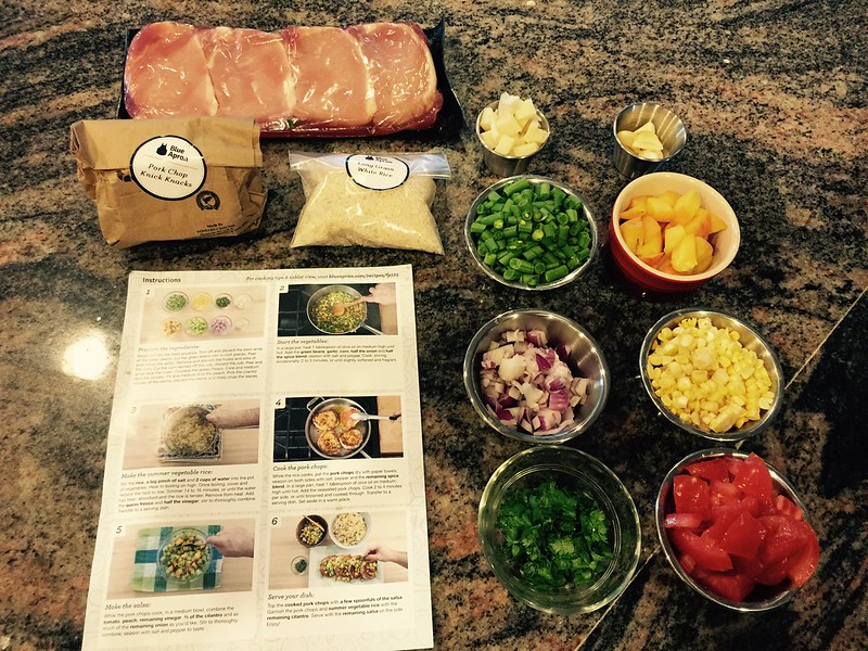 All Blue Apron meal food is chopped and prepped