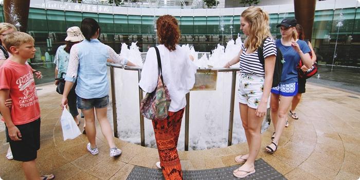 Singapore 新加坡景點 新加坡新達城 Suntec 財富之泉 新加坡財富之泉 Fountain of Wealth Suntec City Mall 新加坡雙層觀光巴士 新加坡公車0-