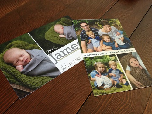 James' Birth Announcement (and how I made them myself for pennies