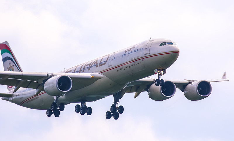 A6-EHB Airbus A340-500 Etihad Airways