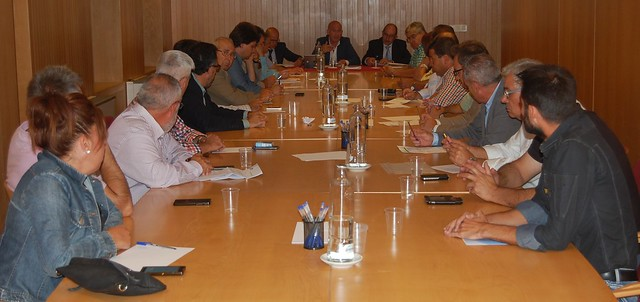 Momento de la reunión del Consejo Directivo de la Confederación.