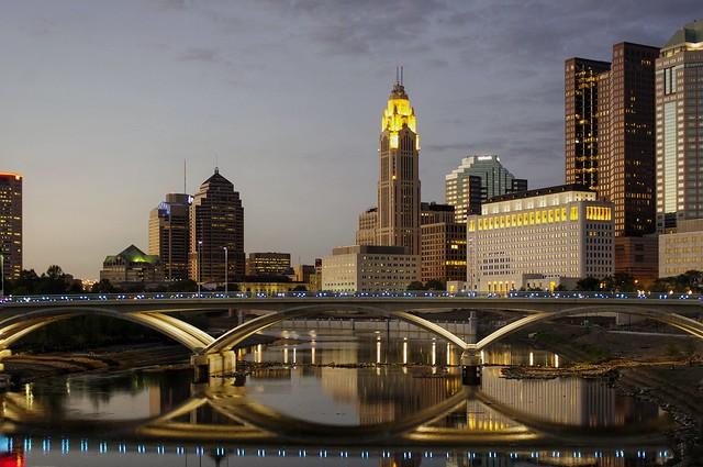 Downtown Columbus sunset