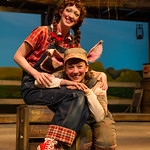Charlotte's Web Spring 2015 - Pictured L-R: Rachel Graham (Fern) and Melissa Morris (Wilbur) Photo by Matthew Gale Photography 2015