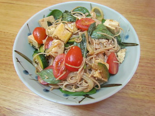 Thai Hangover Noodles with Tofu and Thai Basil