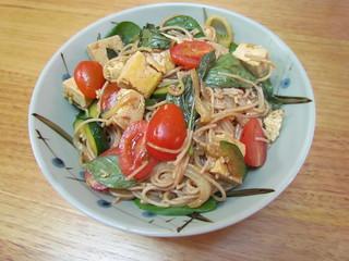 Thai Hangover Noodles with Tofu and Thai Basil