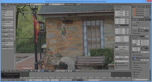 3D Printing - Occoquan Mill House Museum -Screenshot - Stone Work