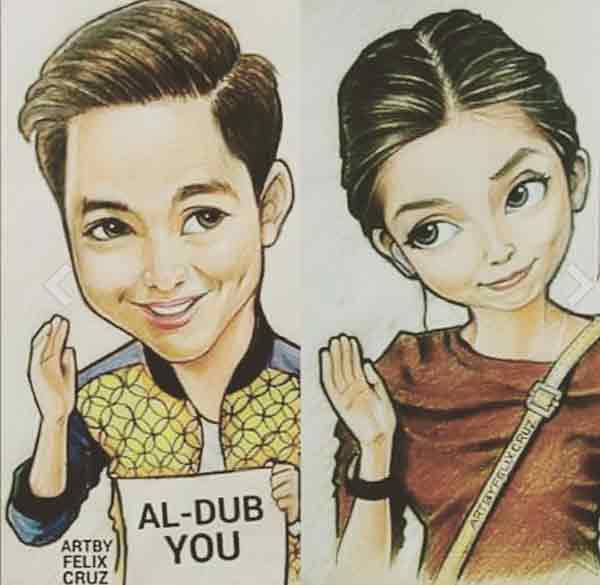 aldub yaya dub alden fan art vector cartoon paper sketch pabebe wave aldubyou