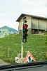 День 8. Дорога до люцерна - в очередной раз встретили временный реверсивный светофор