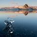Iceland sculpture & Alpenglow by Anniison