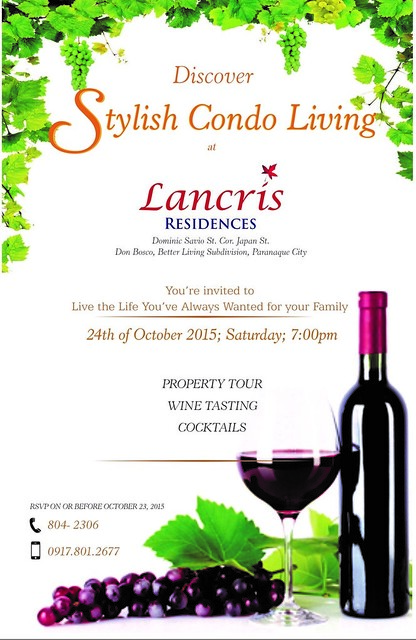 Lancris Residences Wine Tasting Invitation