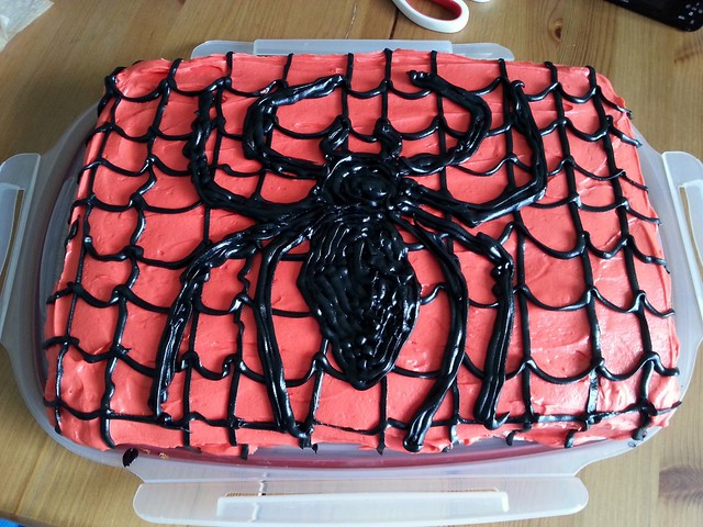 Spider-Man Strawberry Cake