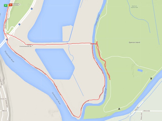 Today's awesome walk, 3.46 miles in 1:09, 7,436 steps