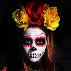 Happy #halloween #sugarskull #diadelosmuertos #dayofthedead #flowerpower