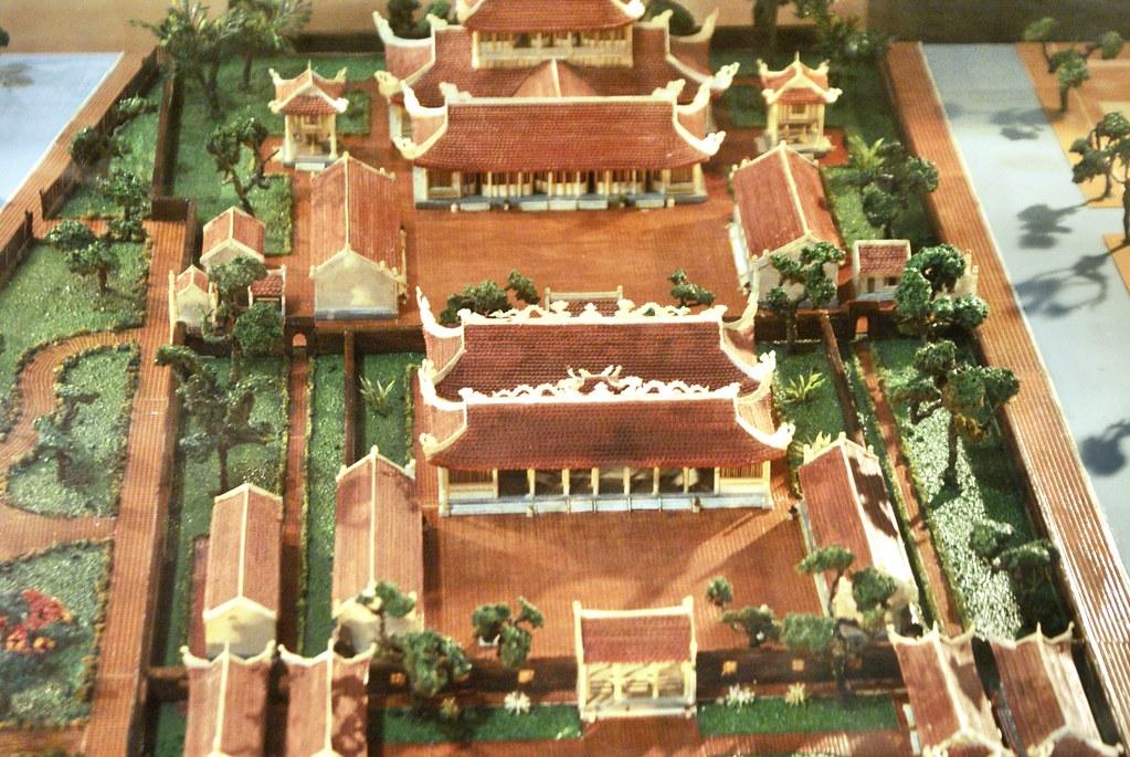 Maquette du temple de la littérature d'Hanoi.