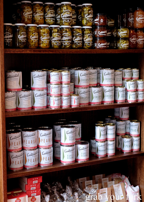 Preserves and tinned vegetables at Continental Deli and Bistro, Newtown Sydney food blog review