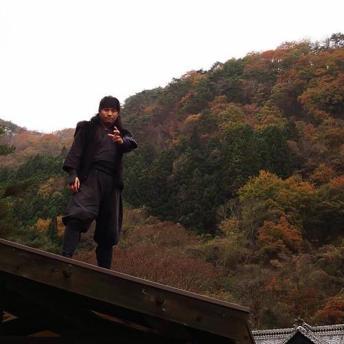 忍者と、山の紅葉。 #日光江戸村 #edowonderland