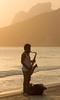 Arpoador Saxophonist, Ipanema by Luke Robinson