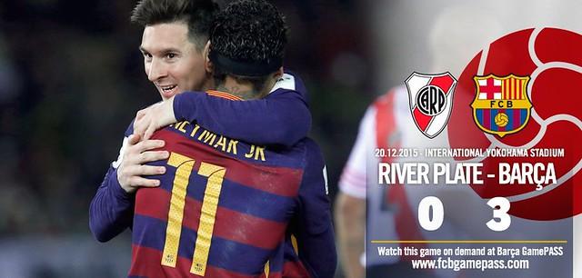 Mundial de Clubes Japón 2015 (Final): FC Barcelona 3 - River Plate 0