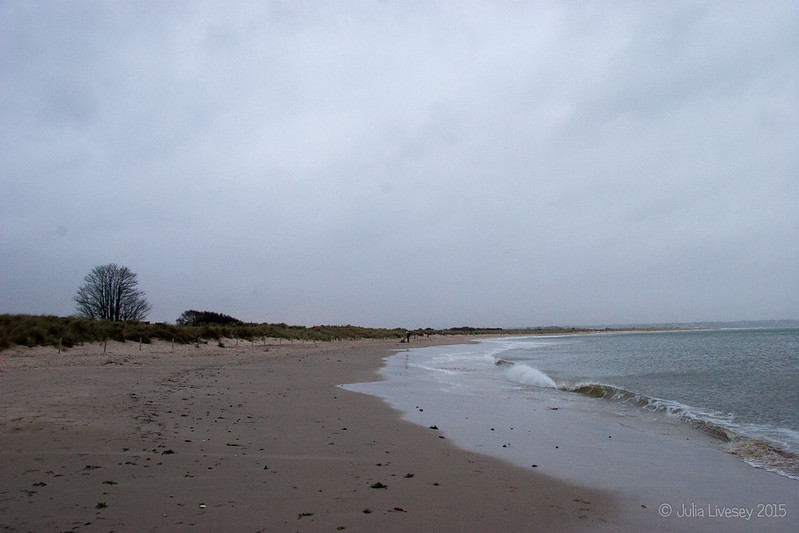 An almost deserted beach
