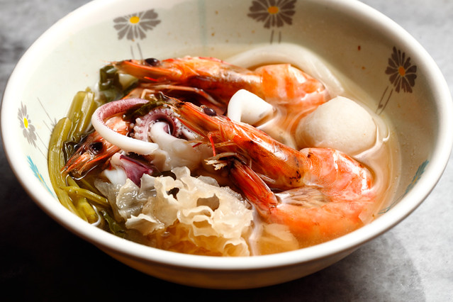Seafood in Jim Jum Soup