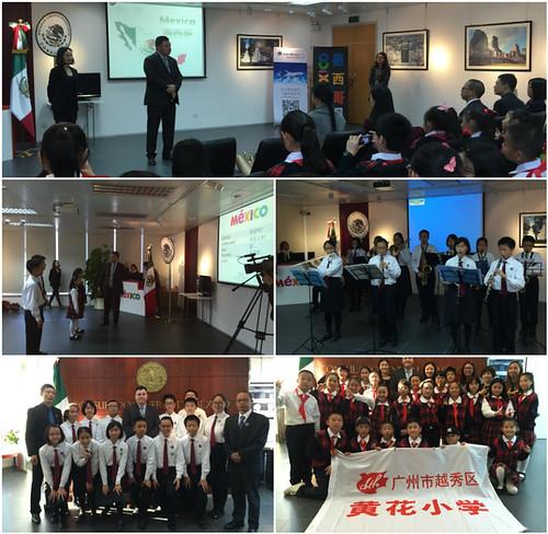 Visita de estudiantes chinos de primaria y secundaria al Consulado General de México en Guangzhou