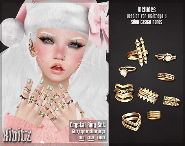 kibitz crystla ring set