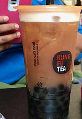 Lemon Black Bubble Tea with Black Tapioca Beads