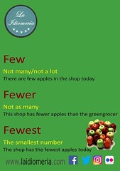 Good morning and have a good week  #laidiomeria #few #fewer #fewest #apples #greengrocer #apple #grammar