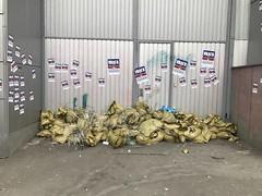В Киеве замуровали главный украинский офис Сбербанка России. Фотофакт