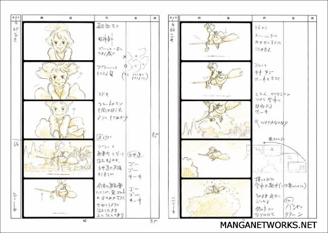 33122456385 2641043c2b o 16 Storyboards của Studio Ghibli sẽ khiến bạn muốn xem lại Movie ngay lập tức !!