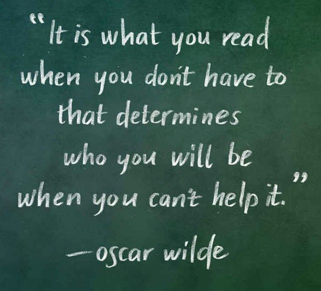 Reading Oscar Wilde