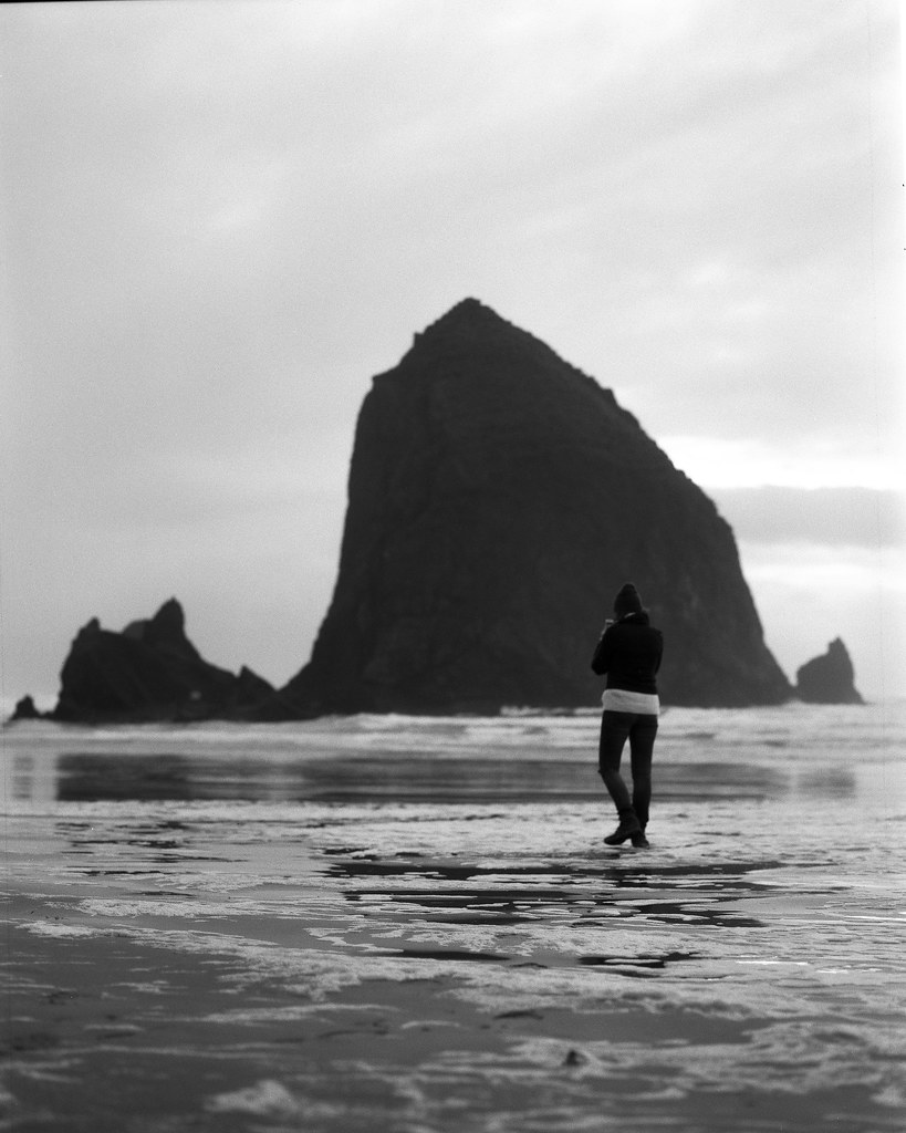 Cannon Beach, Oregon | Exposed on Ilford HP5 with a Mamiya R