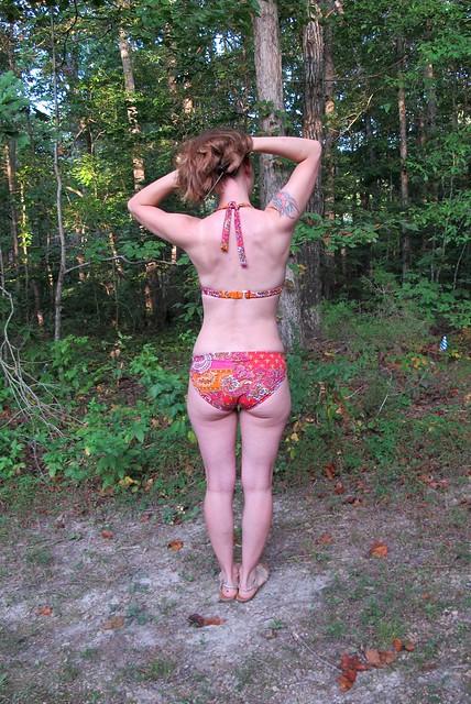 Paisley print Stretch & Sew Bikini - back