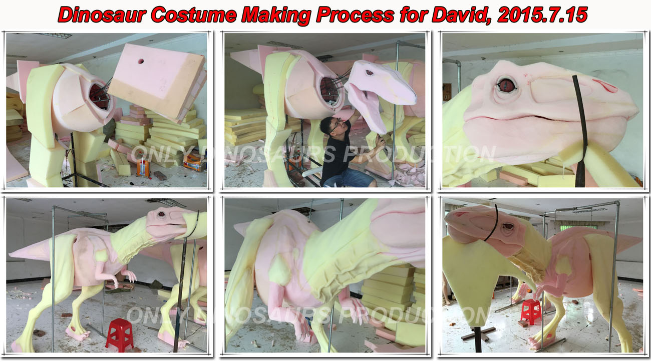 Dinosaur Costume Making Process-01