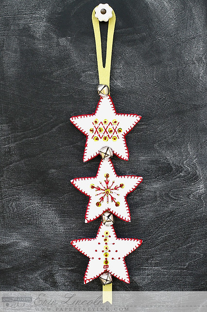 Jingle Bell Door Hanger with Beaded Holiday Quick Stitch Kit