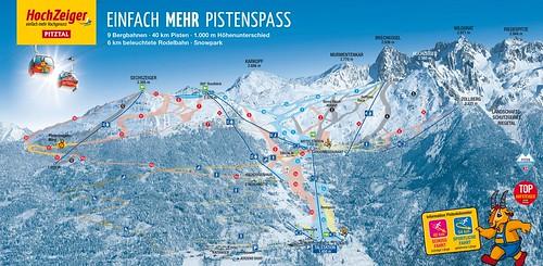 Hochzeiger - mapa sjezdovek